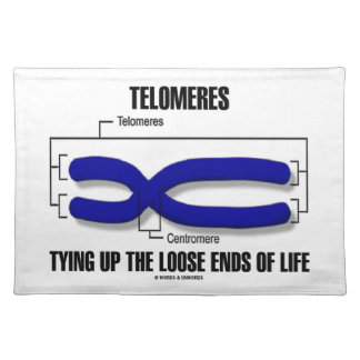 Telomeres Tying Up The Loose Ends Of Life Cloth Placemat