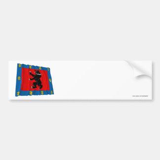 Telsiai County Waving Flag Bumper Sticker