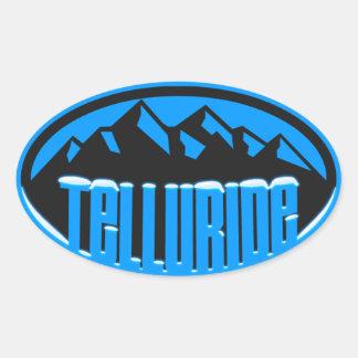 Telururo Colorado coronado de nieve Pegatina Ovalada