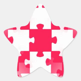 Tem blanco ROJO de los papeles pintados de los Pegatina En Forma De Estrella