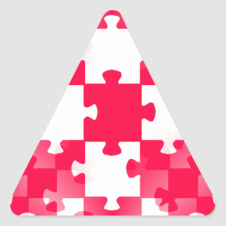 Tem blanco ROJO de los papeles pintados de los Pegatina Triangular