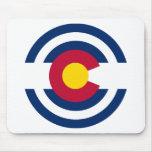 Tema 00 de la bandera de Colorado Alfombrillas De Ratones