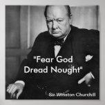Tema a dios, nada de Dred - poster del churchill
