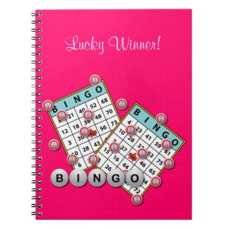 Tema afortunado del bingo del ganador cuaderno