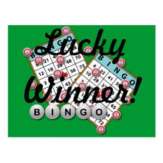 Tema afortunado del bingo del ganador tarjeta postal
