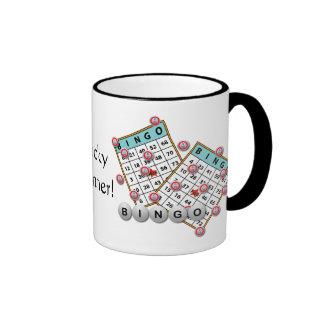 Tema afortunado del bingo del ganador taza a dos colores