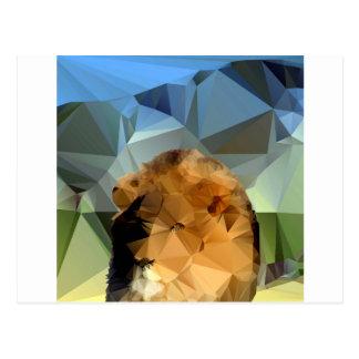 Tema africano principal del león bajo polivinílico postal