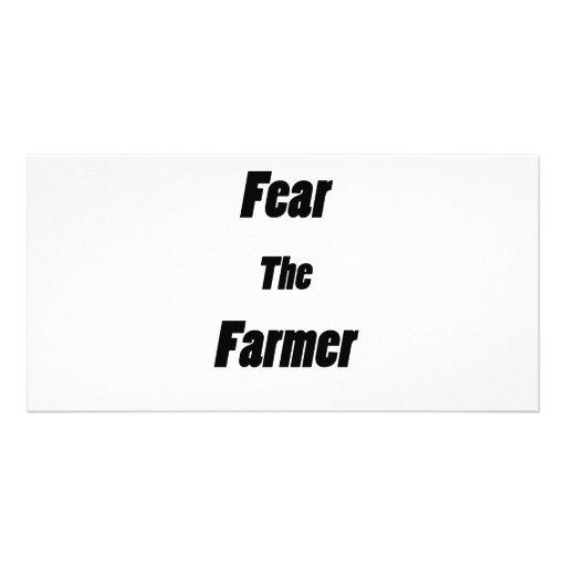 tema al granjero tarjeta personal