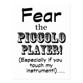 Tema al jugador de flautín postal