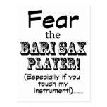 Tema al jugador de saxofón de Bari Tarjeta Postal