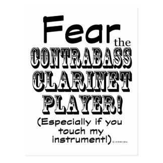 Tema al jugador del Clarinet del Contrabass Postal