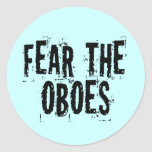 Tema al pegatina de Oboes
