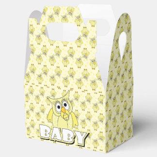 Tema amarillo de la fiesta de bienvenida al bebé caja para regalos de fiestas