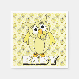 Tema amarillo de la fiesta de bienvenida al bebé servilletas de papel