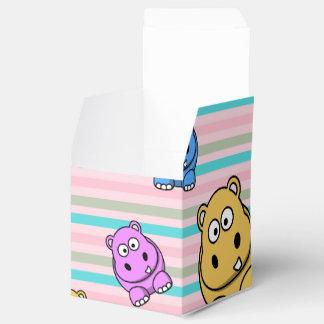 Tema animal del parque zoológico colorido lindo de cajas para regalos de fiestas