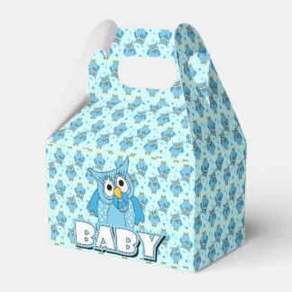 Tema azul de la fiesta de bienvenida al bebé del cajas para regalos de fiestas