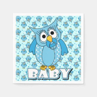 Tema azul de la fiesta de bienvenida al bebé del servilletas desechables