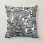 tema azul pintado pájaros la Florida de la playa Cojines