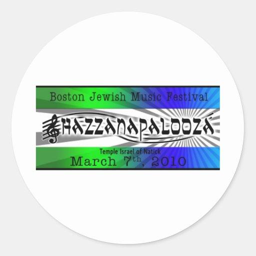Tema azul/verde de Hazzanapalooza Pegatina Redonda