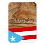 "Tema: Bandera Azul Celeste: Puerto Rico Invitación 3.5"" X 5"""