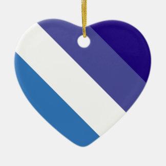 Tema brasileño de la bandera de G0YS Adorno De Cerámica En Forma De Corazón