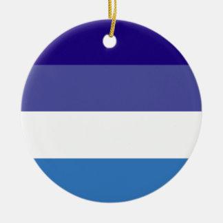 Tema brasileño de la bandera de G0YS Adorno Redondo De Cerámica