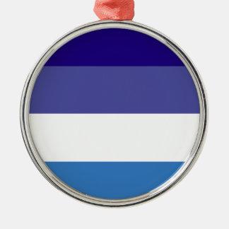Tema brasileño de la bandera de G0YS Adorno Redondo Plateado
