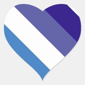 Tema brasileño de la bandera de G0YS Pegatina En Forma De Corazón