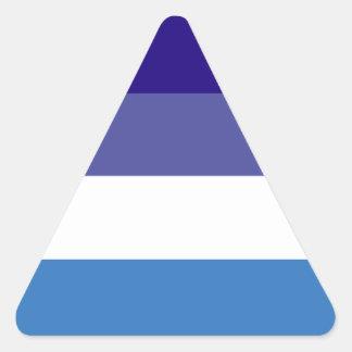 Tema brasileño de la bandera de G0YS Pegatina Triangular