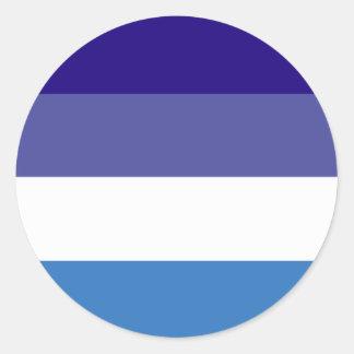 Tema brasileño de la bandera de G0YS Pegatina Redonda
