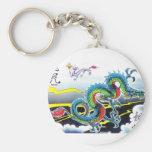 Tema chino del dragón llavero personalizado