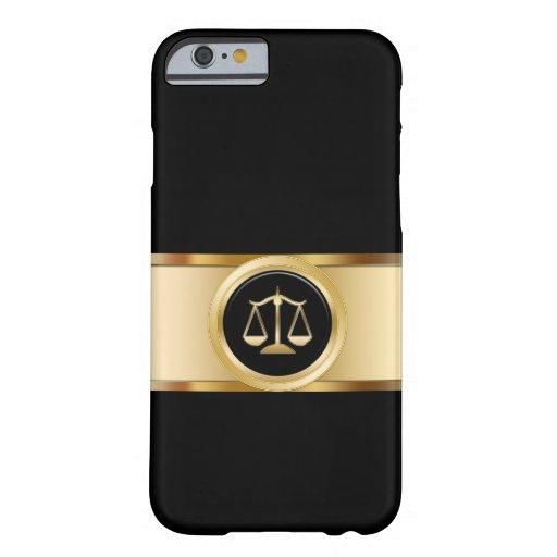 Tema con clase del abogado funda de iPhone 6 barely there