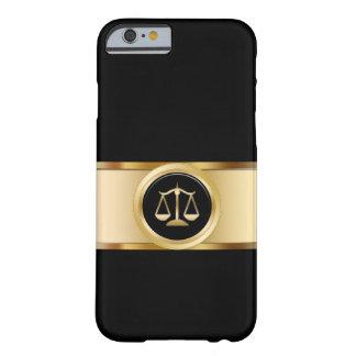 Tema con clase del abogado funda para iPhone 6 barely there