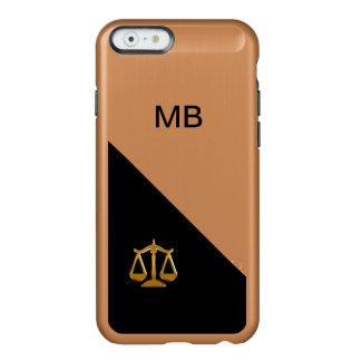 Tema con clase del abogado funda para iPhone 6 plus incipio feather shine