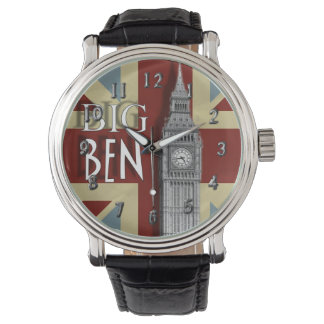 Tema de Big Ben Londres Union Jack Relojes De Pulsera