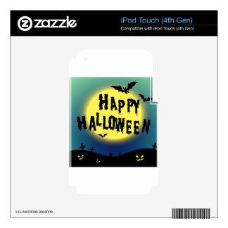 Tema de Halloween con los palos y el cementerio iPod Touch 4G Calcomanía