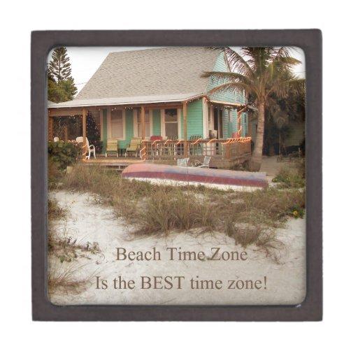 Tema de la cabaña de Florda del tiempo de la playa Caja De Recuerdo De Calidad