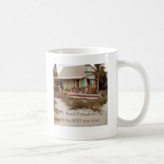 Tema de la cabaña de Florda del tiempo de la playa Taza Clásica