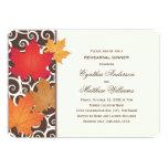 Tema de la caída del otoño de la invitación el |