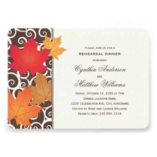 Tema de la caída del otoño de la invitación el | d