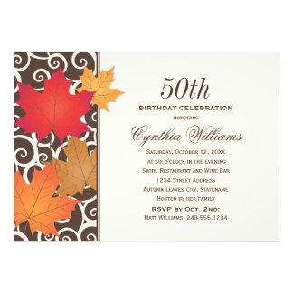 Tema de la caída del otoño de la invitación el d