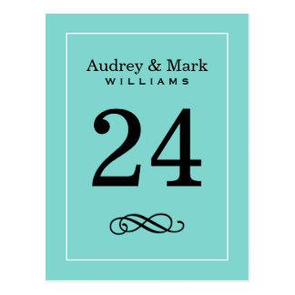 Tema de la caja azul de la tarjeta el   del número postales