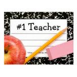 Tema de la escuela del profesor #1 postal