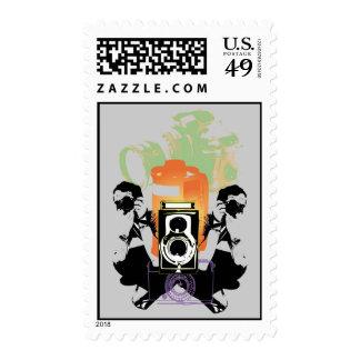 tema de la fotografía en sello