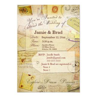 Tema de la invitación del boda del destino en