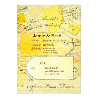 Tema de la invitación del boda del destino en amar