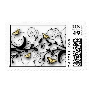 Tema de la mariposa timbre postal