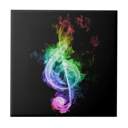 tema de la música azulejos