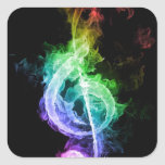 tema de la música calcomanía cuadrada