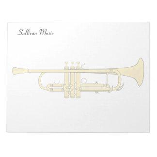 Tema de la música de la trompeta de oro bloc de notas